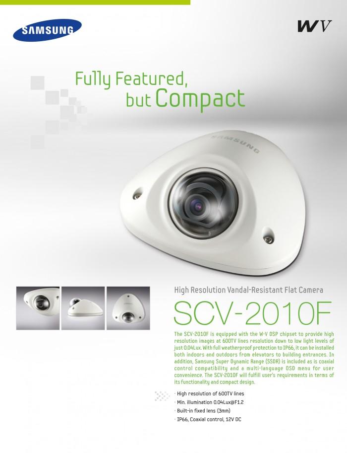 600 TVL Vandal Flat Dome Kamera