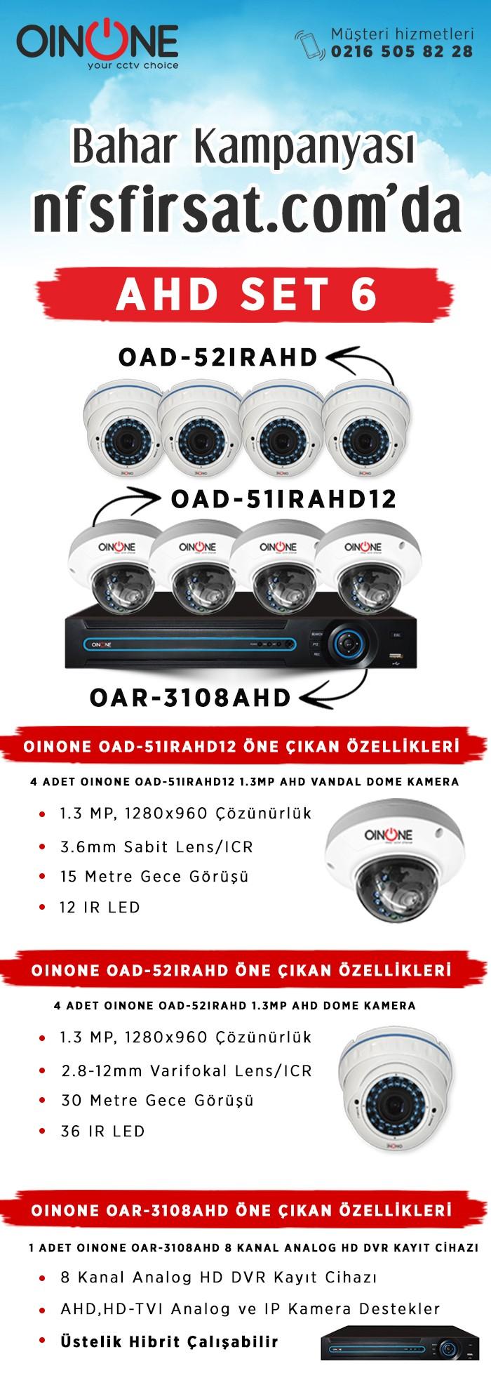 AHD Kamera Set 6