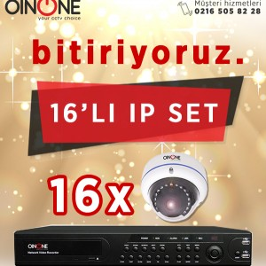 16'LI 1.3MP IP IR DOME KAMERA SET