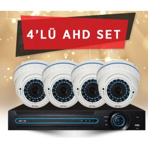 4'LÜ 1.3MP IR DOME AHD KAMERA SET