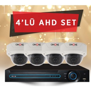 4'LÜ 2MP AHD IR DOME SET